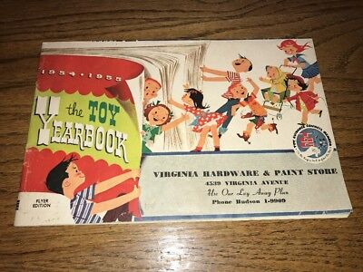 1954-55 The Toy Yearbook Virginia Hardware Christmas catalog toys pedal cars