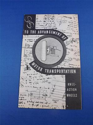 To The Advancement Of Motor Transportation Knee Action Booklet Gm Canada 1934