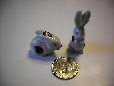 Vintage Mid Century Porcelain Rabbits Made In Japan Lot Of 2