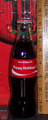 2016 Coca - Cola Share A Coke With Happy Holidays !!  8 Ounce Coca - Cola Bottle