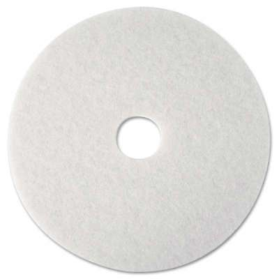 "3M Super Polish Floor Pad 4100, 12"" Diameter, White, 5/Carton 048011084763"