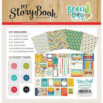 "Carta Bella My Story Book Pocket Page Kit 12""X12"" Beach Day 083832251710"