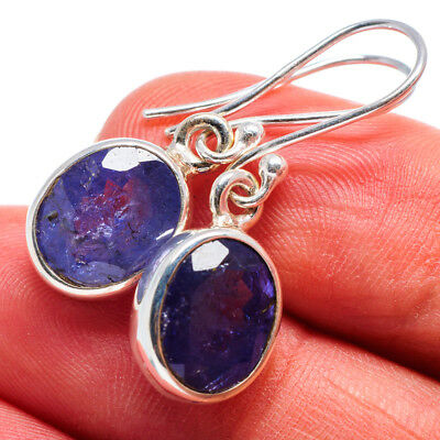 "Tanzanite 925 Sterling Silver Earrings 1 1/4"" Ana Co Jewelry E358426"
