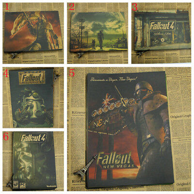 hot Retro style kraft paper classic game Fallout New Vegas poster new