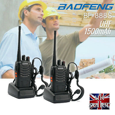 New Baofeng BF-888S CTCSS/DCS 16Channel UHF 400-470MHz Handheld Walkie Talkie UK
