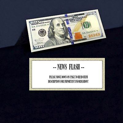 ( 1 ) Motion Picture Prop Money $100 Dollar Bill Fake Play Money Novelty Note