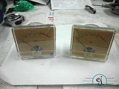 Pair of VU Meters 3 x 3.5 Inches Ideal Precision Co
