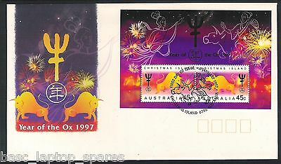 1997-01-06 Christmas Island Year of the OX Mini Sheet