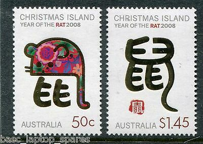2008 Christmas Island - Lunar Year, Year of the Rat Set MUH