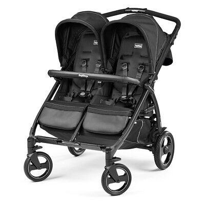 Peg Perego Book for Two Classico Double Stroller - Onyx