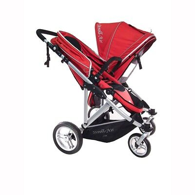 StrollAir My Duo Twin / Double Side by Side Stroller - Red