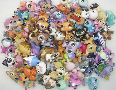 Random 10 pcs  Littlest Pet Shop Loose Figures BV90f