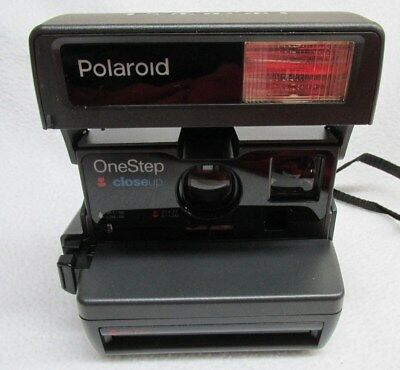 Vintage Polaroid One Step Close Up Instant 600 Flash Camera TESTED Really Nice!
