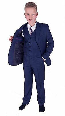 Cinda Blue 5 Piece Boy Suits Wedding Suit Page Boy Party Prom 4-5 Years