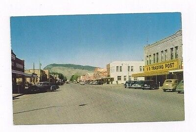 WY Cody Wyoming vintage post card Street View Early 1950's