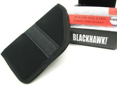 BLACKHAWK! Black Ambidextrous INSIDE THE PANTS Holster Fits Size 3 New! 40PP03BK