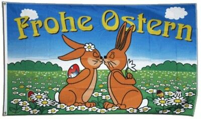 Fahne Frohe Ostern 5 Flagge Osterhasen Hissflagge 90x150cm
