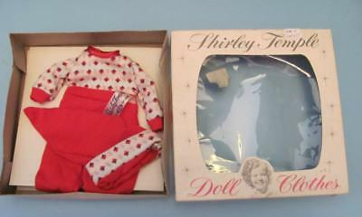 """Vintage 12"""" 1950's Shirley Temple Knit Pj's Outfit Mint In Box"""