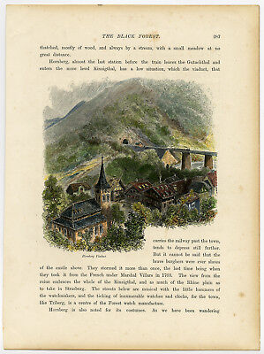 Antique Print-VIADUCT-BLACK FOREST-HORNBERG-GERMANY-Anonymous-1879
