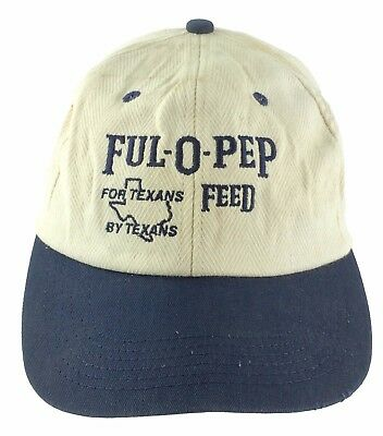 Ful-o-Pep Feed For Texans By Texans Vintage Ball Cap Hat Farm Agriculture USA
