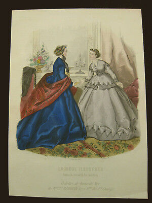 Mode Damenmode Ladies ' Fashion No 1, franz Stahlstich ca. 1860