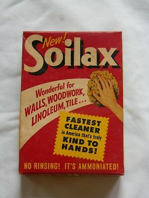 Rare/scarce 1950's Unopened 1 Lb. Box Soilax Cleaner