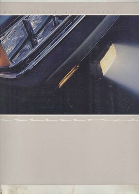 1985 1986 ? Audi 5000S Accessories Brochure wy7990