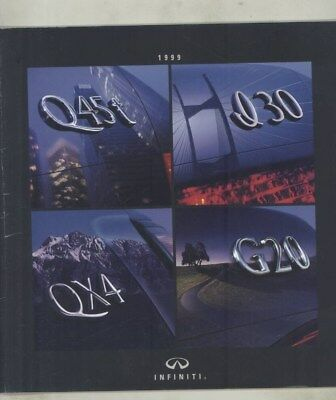 1999 Infiniti Q45 I30 QX4 G20 Brochure Revised 12/98 wy8019