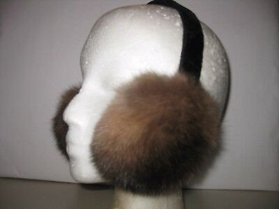NATURAL SILVER TOP RUSSIAN SABLE  Earmuff . Affordable. price.. Don't miss