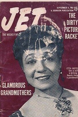 RARE 9/4/1952 JET MAGAZINE Dirty X-Rated Movie racket Glamorous Grandmothers