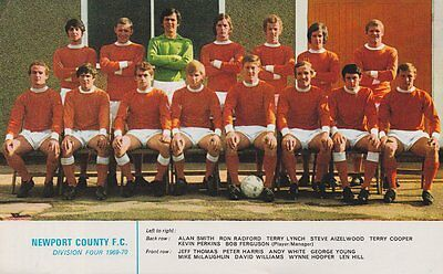 Newport County Football Team Photo>1969-70 Season