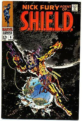 NICK FURY AGENT OF SHIELD #6 F, Jim Steranko c. S.H.I.E.L.D. Marvel Comics 1968