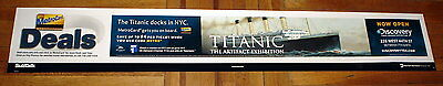 Titanic Artifact Exhibition Discovery Channel Nyc Metrocard 6Ft Subway Poster
