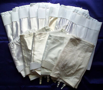 RESALE LOT 14 Vintage-New White Open Girdles 3 Styles For Custom-Dye Projects