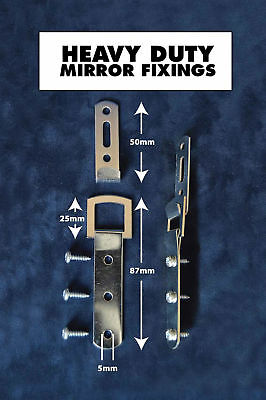 Heavy Duty Mirror Fittings Picture or photo Frame Fixings Very Strong. New