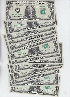 Federal Reserve Note $1 1963  group of 15 notes choice unc