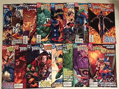 Teen Titans lot of 70 issues from the 2003 Geoff Johns series that ran 1-100