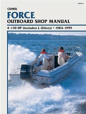 Clymer Force 90 Hp L-Drive Outboard Repair Shop Service Manual 1984-1999 '84-'99