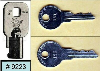 Vendstar 3000 machines Back door (coin) key # 9223 and top lid keys # 157, #159