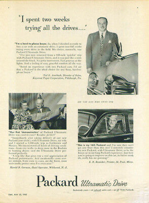 I spent two weeks trying all the drives Packard ad 1950