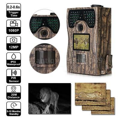 12MP Game Wildlife Hunting Camera For Outdoor Nature Garden Home Security A3C1