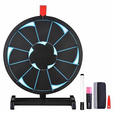 """WinSpin™ 15"""" Tabletop Editable Prize Wheel 12 Slot Mall Spin Game Fortune Party"""