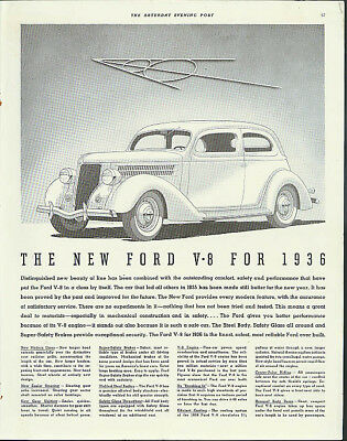 The New Ford V-8 for 1936 Distinguished new beauty ad