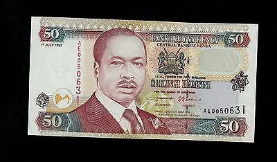 KENYA  50  SHILLINGS 1997  AE   PICK # 36b  UNC LESS.