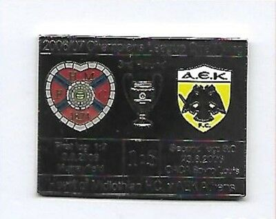 Heart of Midlothian v AEK Athens - 2006 Champions League -  Football Pin Badge