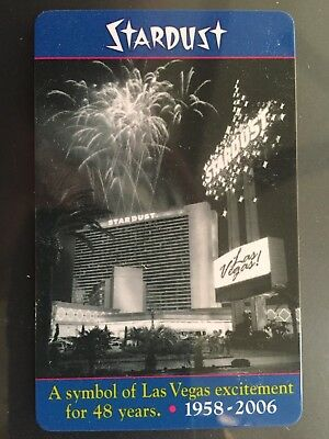 "Las Vegas Stardust Casino ""A Symbol of las Vegas Excitement for 48 Years"" Key"