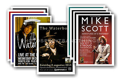 THE WATERBOYS - 10 promotional posters  collectable postcard set # 2