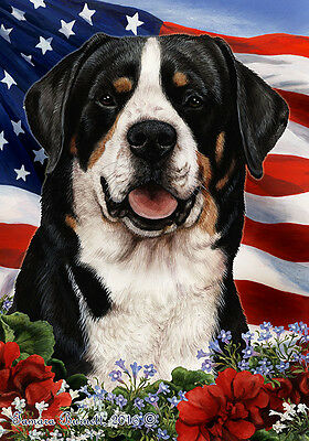 Large Indoor/Outdoor Patriotic I Flag - Greater Swiss Mountain Dog 16144