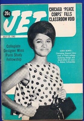 7/25/1963 Jet Magazine CHICAGO PEACE CORPS Corie Bowie fellowship CLYDE KENNARD