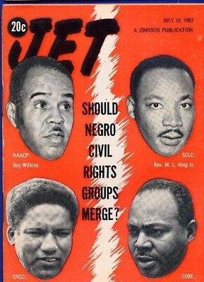 7/18/1963 Jet Magazine Martin Luther King Roy Wilkins James Farmer James Foreman
